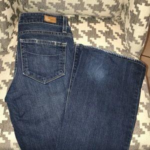 Paige miderise wide leg jeans EUC